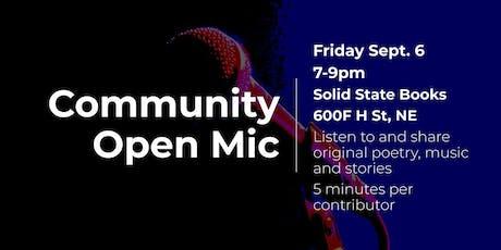 Community Open Mic tickets