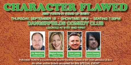 CHARACTER FLAWED! tickets