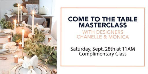 Come To The Table Masterclass