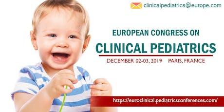 European Congress on CLINICAL PEDIATRICS tickets