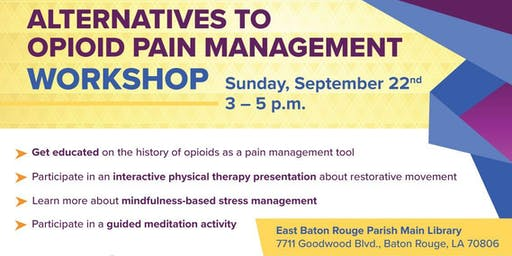 Alternatives to Opioids Pain Management Workshop
