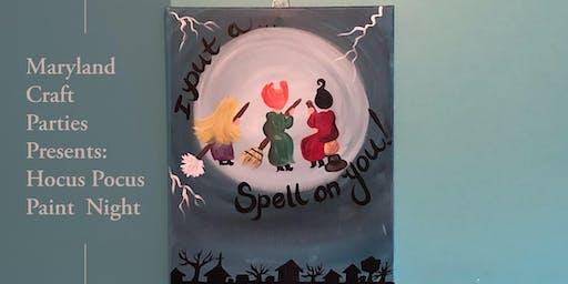 Hocus Pocus Paint Night with Maryland Craft Parties