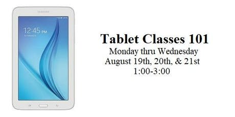 Tablet Classes 101 tickets