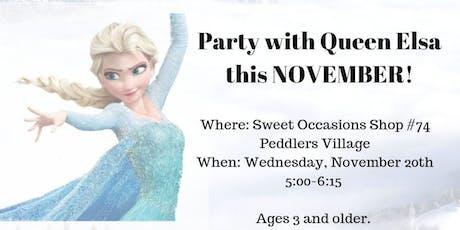 """""""Let it Glow"""" Milkshake Party with Queen Elsa tickets"""