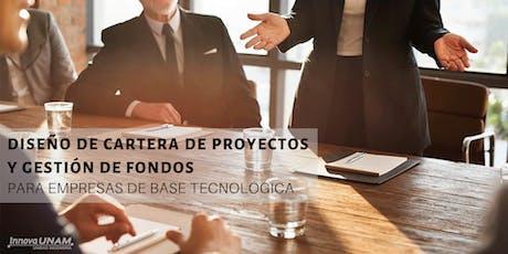 Diseño de Cartera de Proyectos y Gestión de Fondos tickets