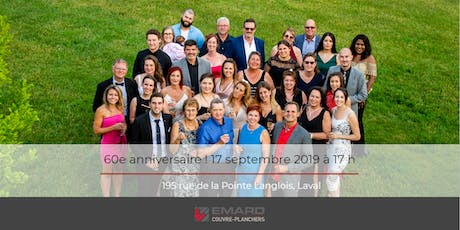 60e anniversaire - Emard Couvre-Planchers tickets