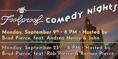 Foolproof Comedy Night @ The Rooftop tickets