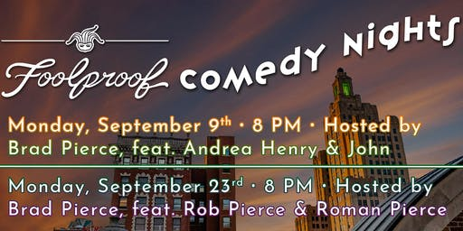 Foolproof Comedy Night @ The Rooftop