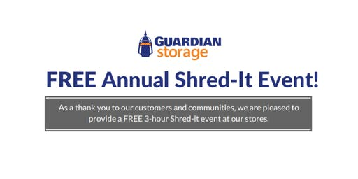 Guardian Storage FREE Shred-It Event