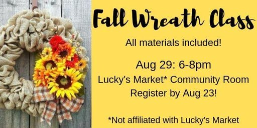 Fall Wreath Making Class