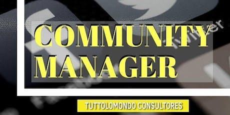 Community Manager entradas