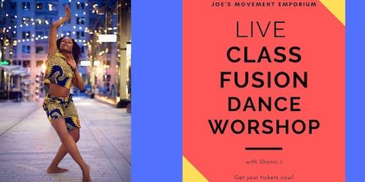 Live Class - A  Fusion Dance Workshop