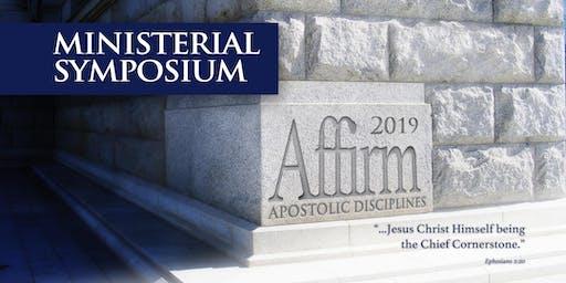 "Ministerial  Symposium / Simposio  Ministerial 2019  |  ""AFFIRM"" ""AFIRMAR"""