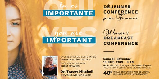 YES You're important! OUI Tu es importante! - Women Conference pour femmes