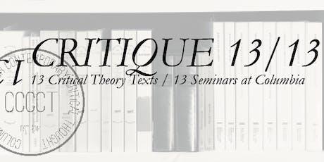 Critique 1/13:  Foucault and Nietzsche with Amy Allen tickets