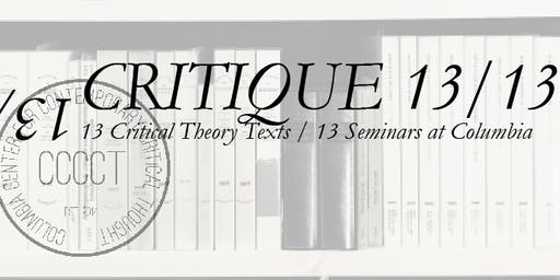 Critique 2/13: Horkheimer and Adorno with Axel Honneth