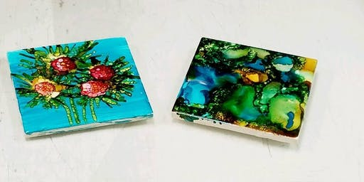Alcohol Ink Painting Series and Sept. 21