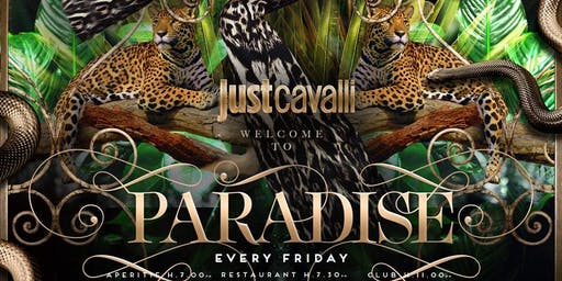 Paradise Aperitif and Party at Just Cavalli Milano