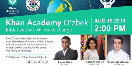 Khan Academy O'zbek: Initiative that will make change ...
