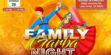 Family Garba Night -Dandiya, GarbaRaas, Navratri Celebration in Lake Forest tickets