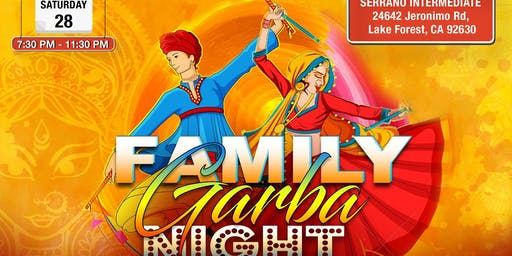 Family Garba Night -Dandiya, GarbaRaas, Navratri Celebration in Lake Forest