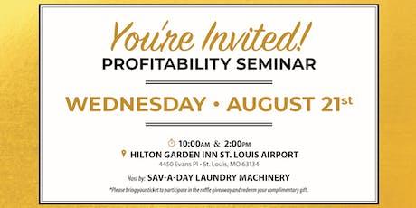 Laundromat Entrepreneur Profitability Seminar 2019 tickets