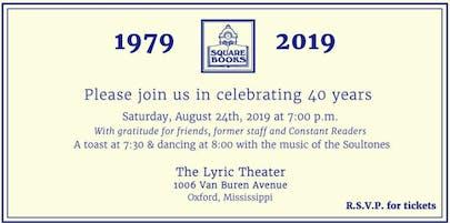 Square Books 40th Anniversary Celebration