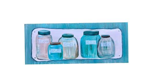 "Adult Open Paint (18yrs+) ""Mason Jars"""
