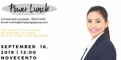 Power Lunch – Business Basics for Small & Solo Law Firms
