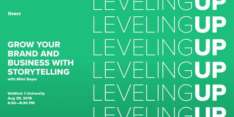 Leveling Up: Grow your Brand and Business with Storytelling tickets