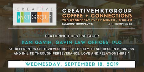 CreativeMktGroup September Coffee + Connections: Featuring Pam Gavin, Gavin Law Offices, PLC tickets