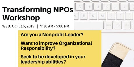 Transforming NPOs Workshop tickets