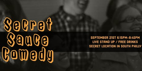 Secret Sauce Live Comedy  tickets