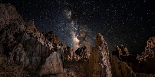 Astrophotography at Cathedral Gorge