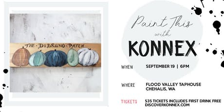 Paint and sip sign workshop Fall art at Flood Valley Taphouse tickets