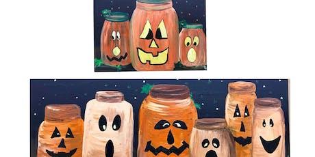 """Adult Open Paint (18yrs+) """"Pumpkin Fun"""" tickets"""