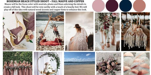 Bohemian Beach (Mauve and Copper) Styled Shoot