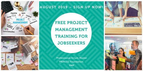 FREE PRINCE2 & PMP Project Management training for recent graduates / jobseekers (Starting August 26th) tickets