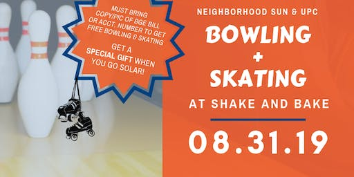 Free Bowling and Skating at Shake & Bake!