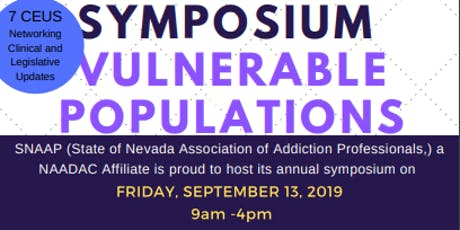 SNAAP Annual Symposium - Vulnerable Populations tickets