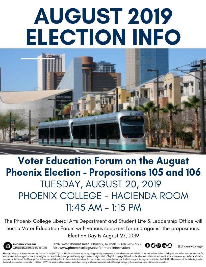 Voter Education Forum - August 2019 Election