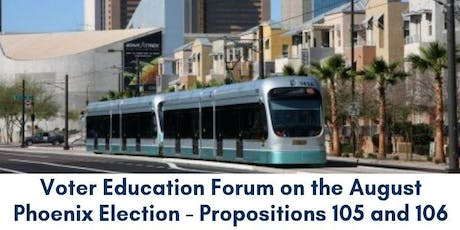 Voter Education Forum - August 2019 Election tickets