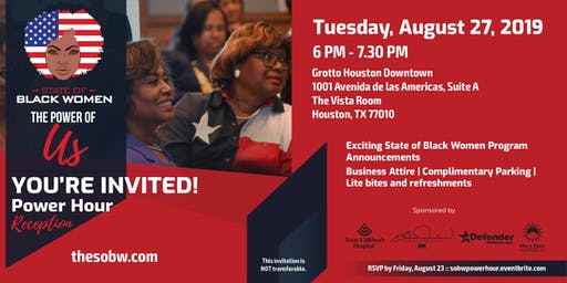 State of Black Women Power Hour Reception