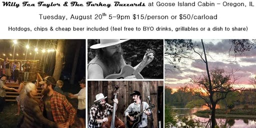 Goose Island Cabin Concert: Willy Tea Taylor and The Turkey Buzzards