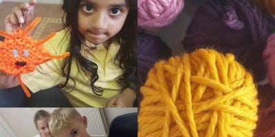 Kids Knitting in Eaglesham
