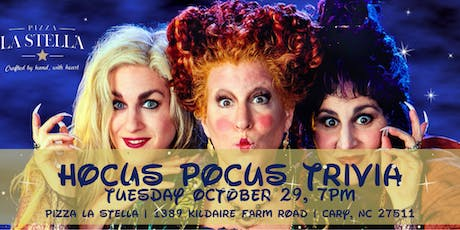 Hocus Pocus Trivia at Pizza La Stella Cary  tickets
