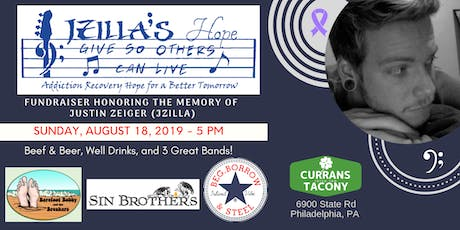 FUNDRAISER HONORING THE MEMORY OF  JUSTIN ZEIGER (JZILLA) tickets
