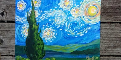 Starry Night Adult Painting Class with Christina Hull