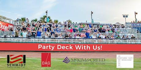 Wahoos Party Deck with DAG / Schmidt / McKim & Creed / Berube Leonard tickets