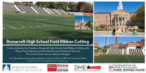 Join Mayor Bowser at the Roosevelt High School Field Ribbon Cutting